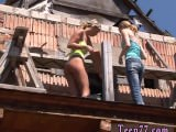 Teen home sextape Kate & Tanya in the sun