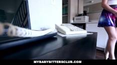MyBabySitters - Cute Young Babysitter Fucks Dad